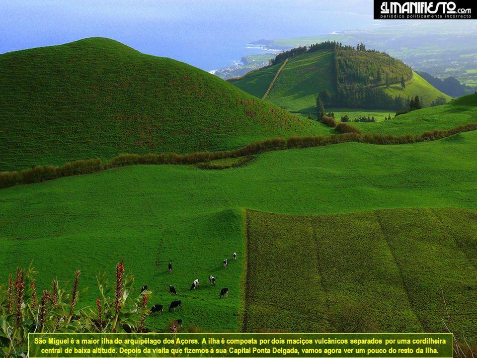 São Miguel é a maior ilha do arquipélago dos Açores.