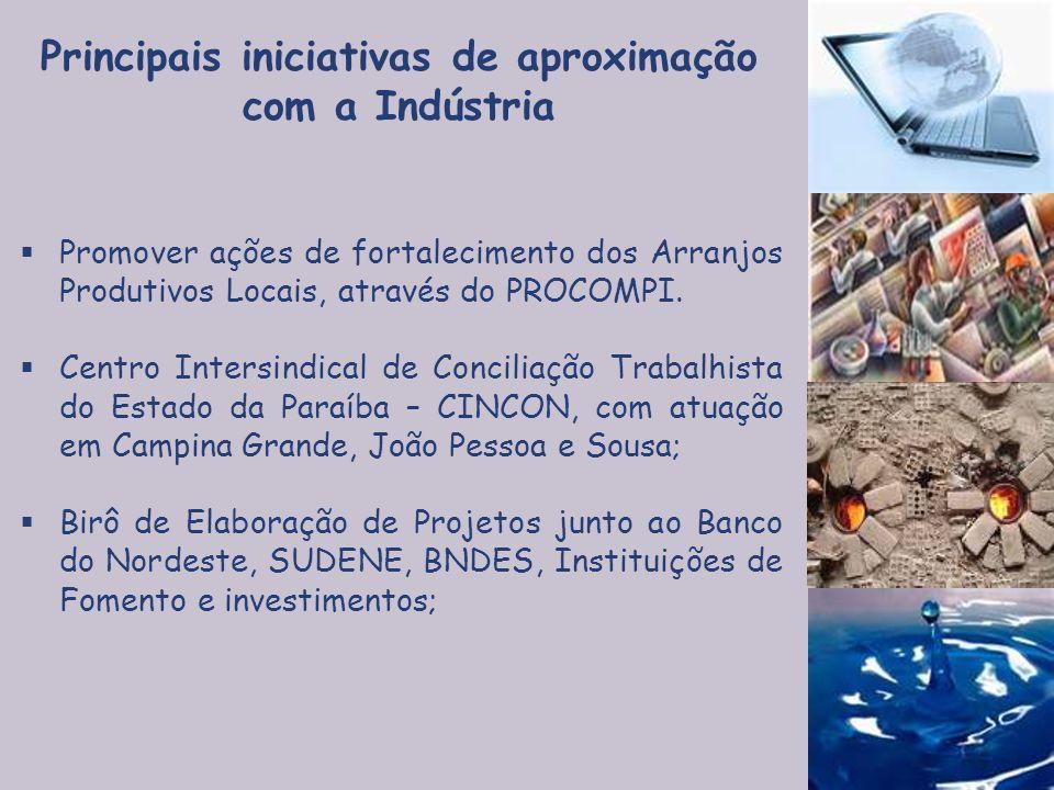  Promover ações de fortalecimento dos Arranjos Produtivos Locais, através do PROCOMPI.  Centro Intersindical de Conciliação Trabalhista do Estado da