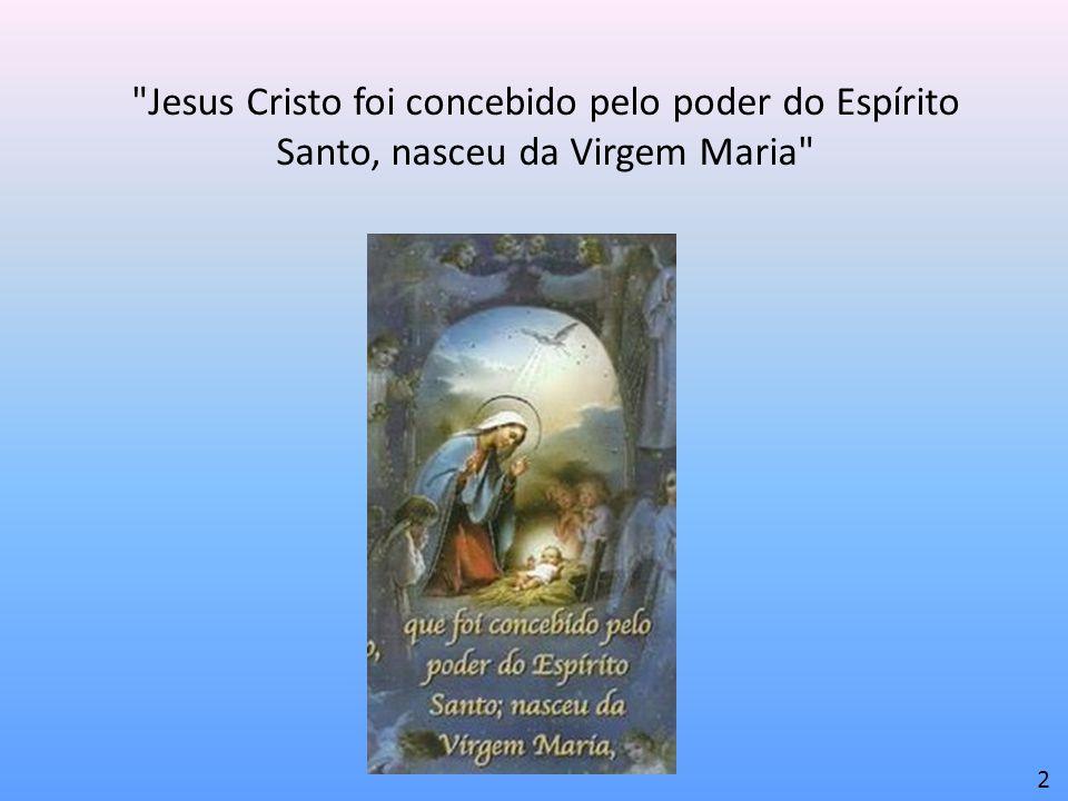 Jesus Cristo foi concebido pelo poder do Espírito Santo, nasceu da Virgem Maria 2