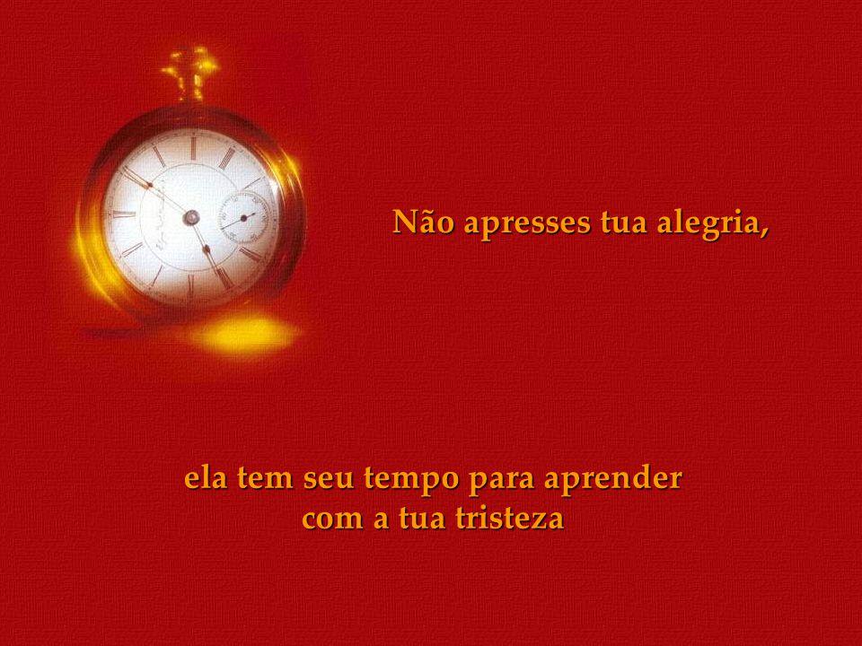 Não apresses o pôr do Sol, ele tem seu tempo de anunciar o anoitecer até seu último raio de luz