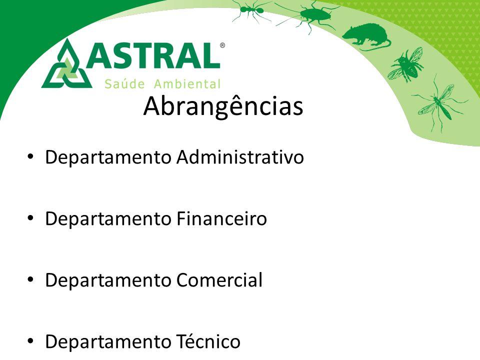 Abrangências Departamento Administrativo Departamento Financeiro Departamento Comercial Departamento Técnico
