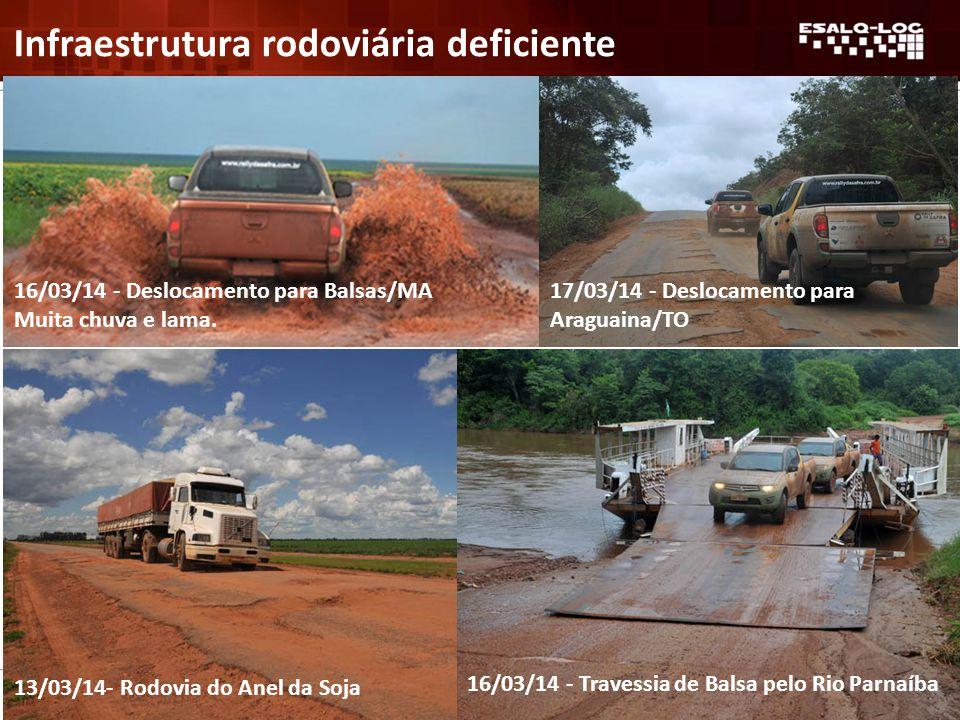 13/03/14- Rodovia do Anel da Soja 16/03/14 - Deslocamento para Balsas/MA Muita chuva e lama.
