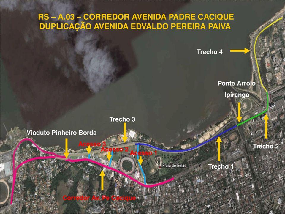Obras de Mobilidade Urbana e Transporte Público – Porto Alegre Copa 2014 Duplicação da Av. Edvaldo Pereira Paiva/Corredor da Padre Cacique