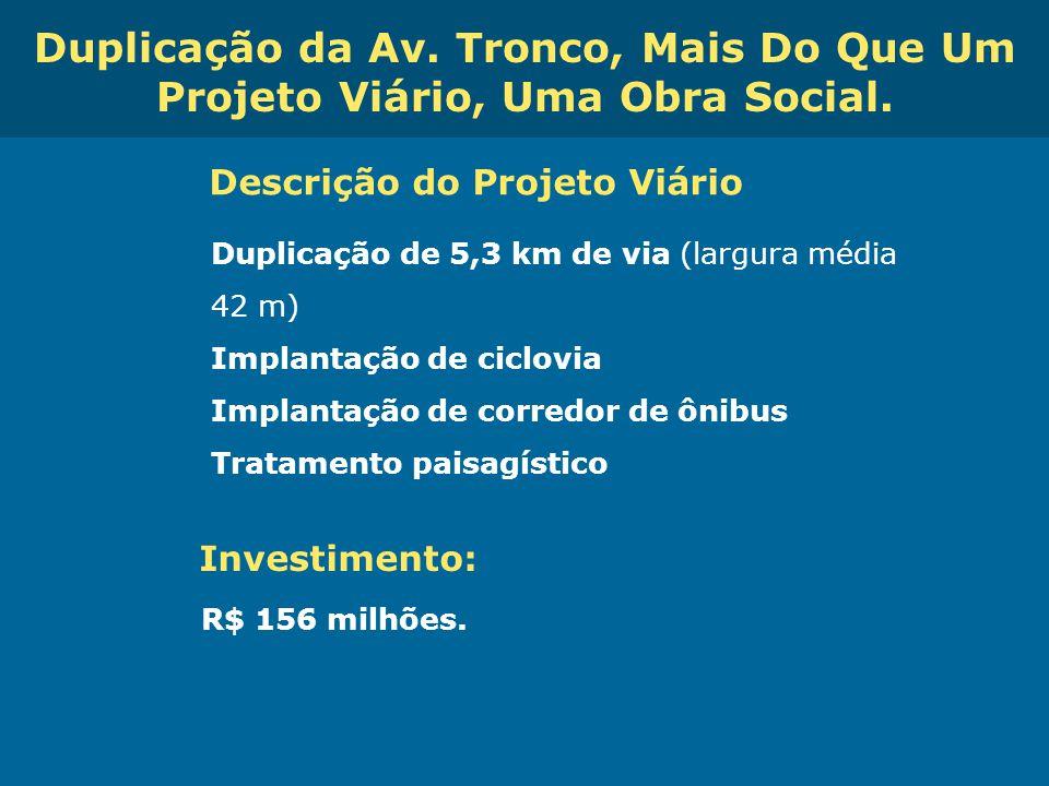 Obras de Mobilidade Urbana e Transporte Público – Porto Alegre Copa 2014 Duplicação da Av. Tronco, Mais Do Que Um Projeto Viário, Uma Obra Social. Des