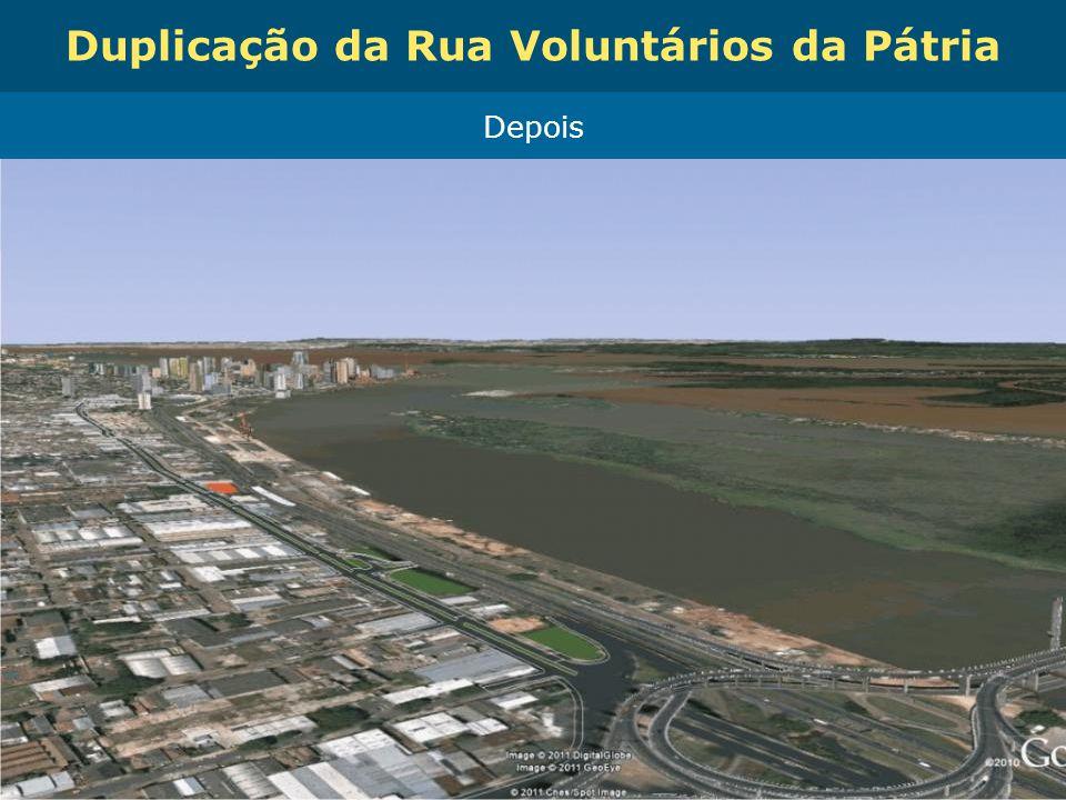 Obras de Mobilidade Urbana e Transporte Público – Porto Alegre Copa 2014 Duplicação da Rua Voluntários da Pátria Depois