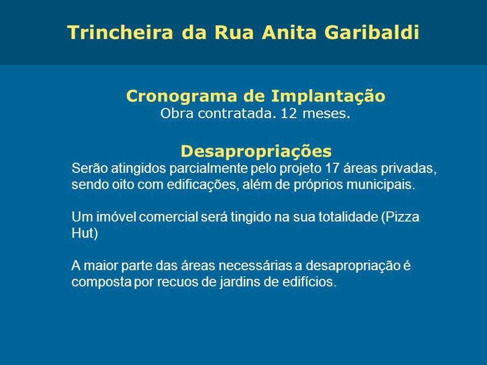 Obras de Mobilidade Urbana e Transporte Público – Porto Alegre Copa 2014 Cronograma de Implantação Obra contratada. 12 meses. Desapropriações Serão at