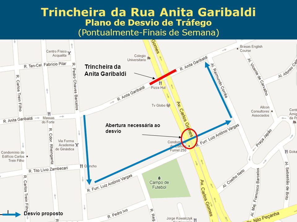 Obras de Mobilidade Urbana e Transporte Público – Porto Alegre Copa 2014 Plano de Desvio de Tráfego (Pontualmente-Finais de Semana) Trincheira da Anit