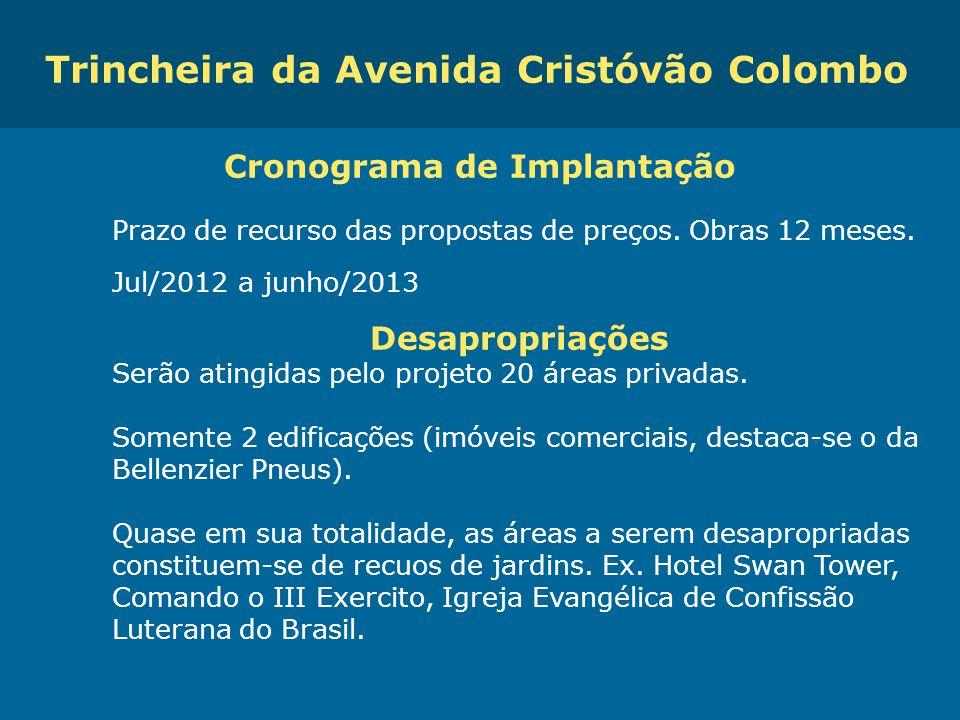 Obras de Mobilidade Urbana e Transporte Público – Porto Alegre Copa 2014 Cronograma de Implantação Prazo de recurso das propostas de preços. Obras 12