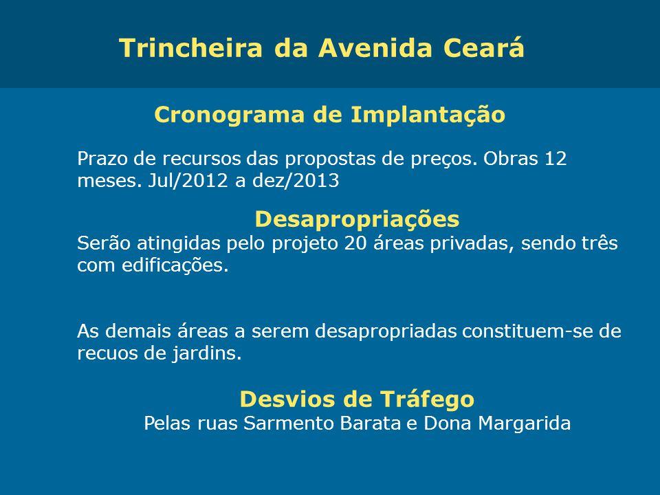 Obras de Mobilidade Urbana e Transporte Público – Porto Alegre Copa 2014 Cronograma de Implantação Prazo de recursos das propostas de preços. Obras 12