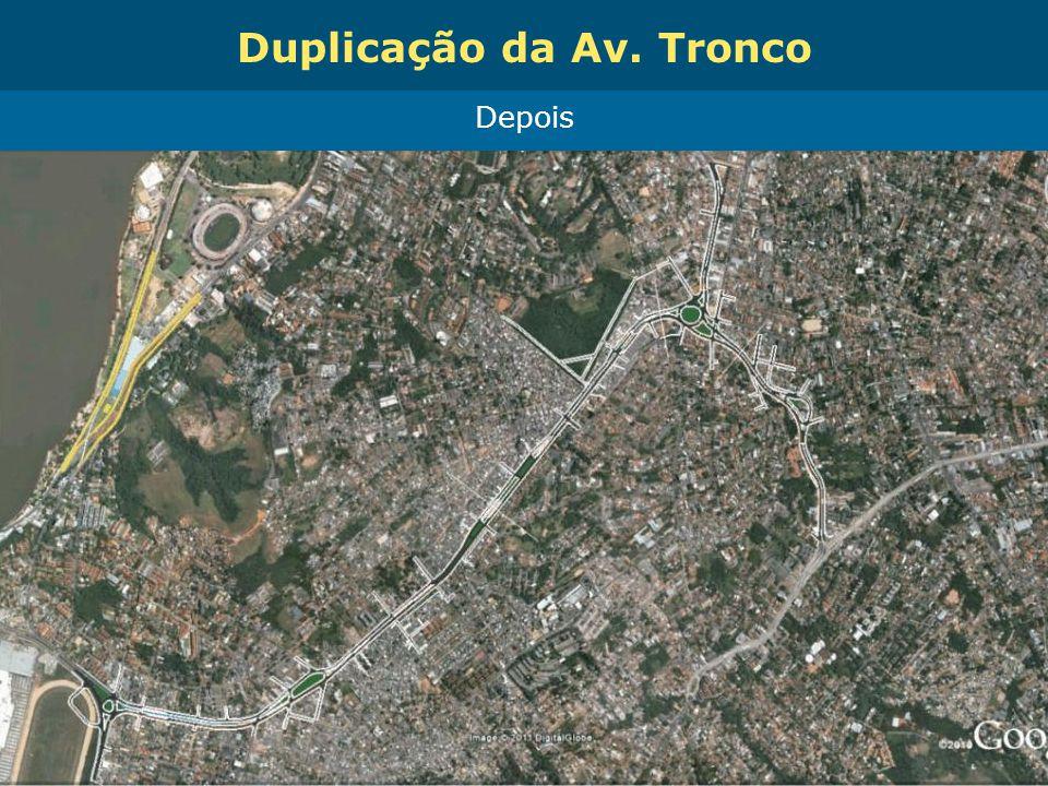 Obras de Mobilidade Urbana e Transporte Público – Porto Alegre Copa 2014 Depois Duplicação da Av. Tronco
