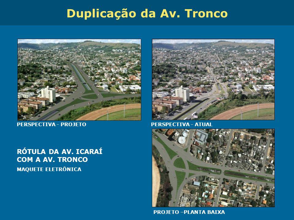 Obras de Mobilidade Urbana e Transporte Público – Porto Alegre Copa 2014 RÓTULA DA AV. ICARAÍ COM A AV. TRONCO MAQUETE ELETRÔNICA PERSPECTIVA - PROJET