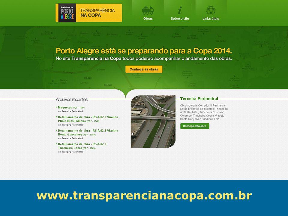 Obras de Mobilidade Urbana e Transporte Público – Porto Alegre Copa 2014 www.transparencianacopa.com.br