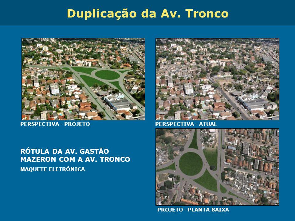 Obras de Mobilidade Urbana e Transporte Público – Porto Alegre Copa 2014 RÓTULA DA AV. GASTÃO MAZERON COM A AV. TRONCO MAQUETE ELETRÔNICA PERSPECTIVA