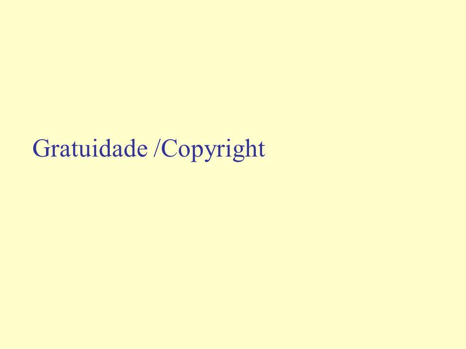 Gratuidade /Copyright