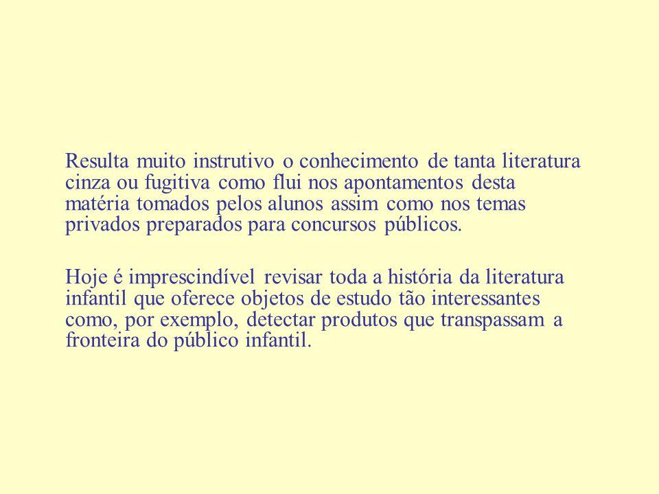 Resulta muito instrutivo o conhecimento de tanta literatura cinza ou fugitiva como flui nos apontamentos desta matéria tomados pelos alunos assim como