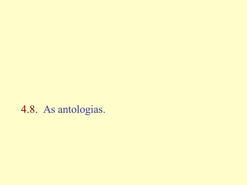 4.8. As antologias.