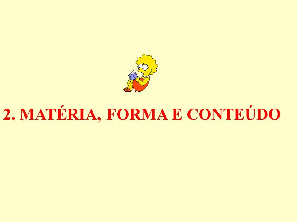 2. MATÉRIA, FORMA E CONTEÚDO