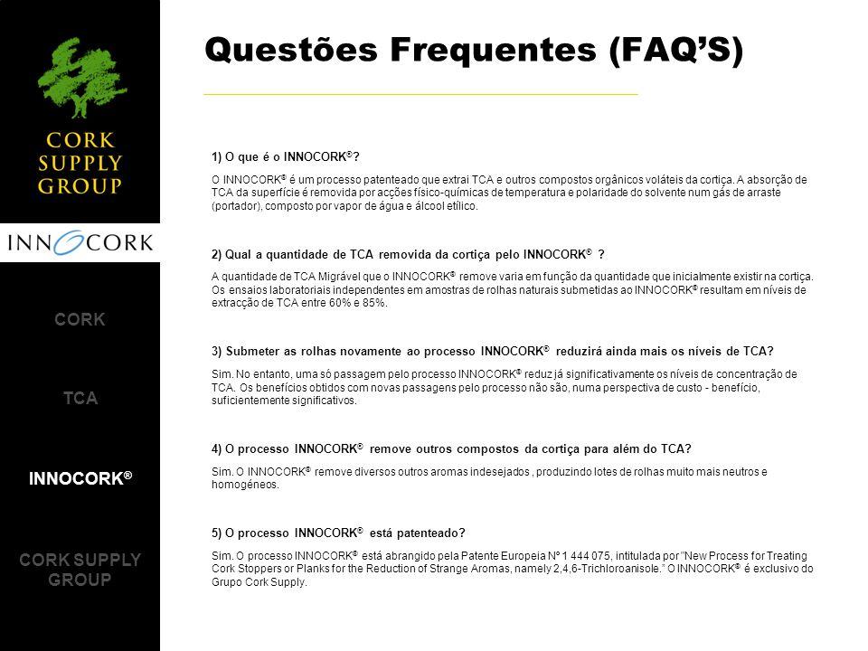 Questões Frequentes (FAQ'S) CORK TCA INNOCORK ® CORK SUPPLY GROUP 1) O que é o INNOCORK ® .