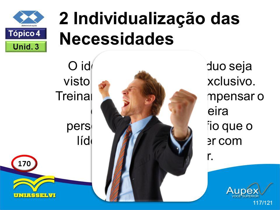 O ideal é que cada indivíduo seja visto como um potencial exclusivo.
