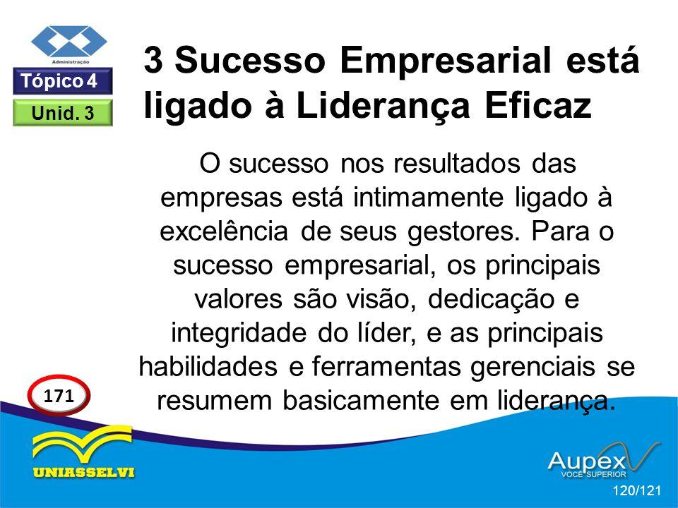 O sucesso nos resultados das empresas está intimamente ligado à excelência de seus gestores. Para o sucesso empresarial, os principais valores são vis