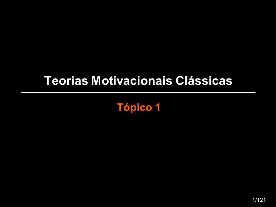Teorias Motivacionais Clássicas Tópico 1 1/121