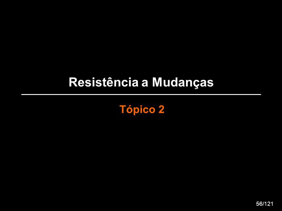 Resistência a Mudanças Tópico 2 56/121