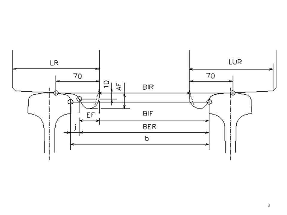 3Plataforma 3.1Altura da plataformaApl 3.2Tolerância construtiva de locação do desalinhamento ou desnivelamento da plataforma (em relação ao projeto) Δ 4Folga dinâmico horizontalfd 9