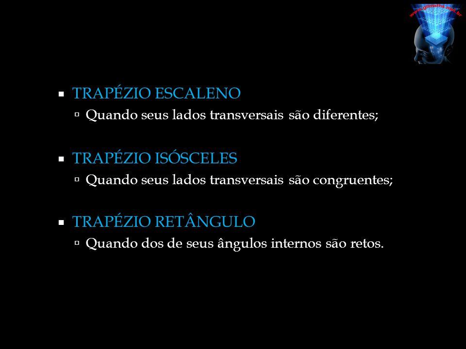 Trapézio Retângulo Trapézio Escaleno Trapézio Isósceles