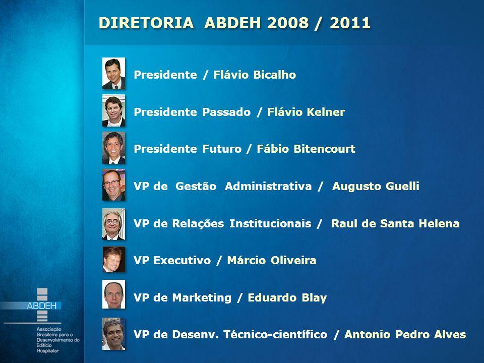 Presidente / Flávio Bicalho Presidente Passado / Flávio Kelner Presidente Futuro / Fábio Bitencourt VP de Gestão Administrativa / Augusto Guelli VP de