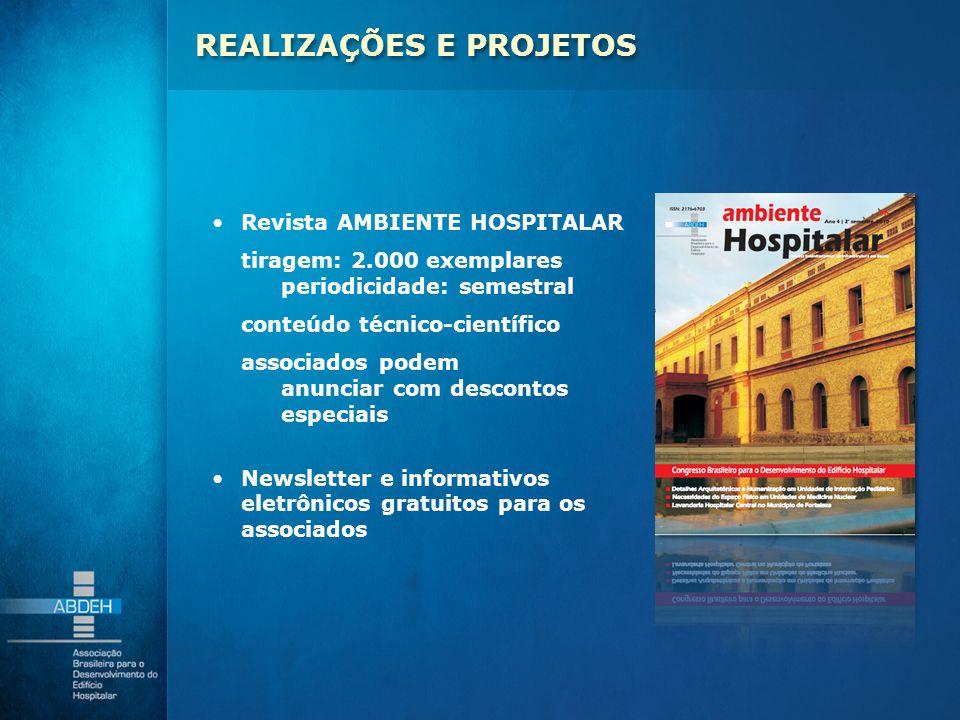 Revista AMBIENTE HOSPITALAR tiragem: 2.000 exemplares periodicidade: semestral conteúdo técnico-científico associados podem anunciar com descontos esp