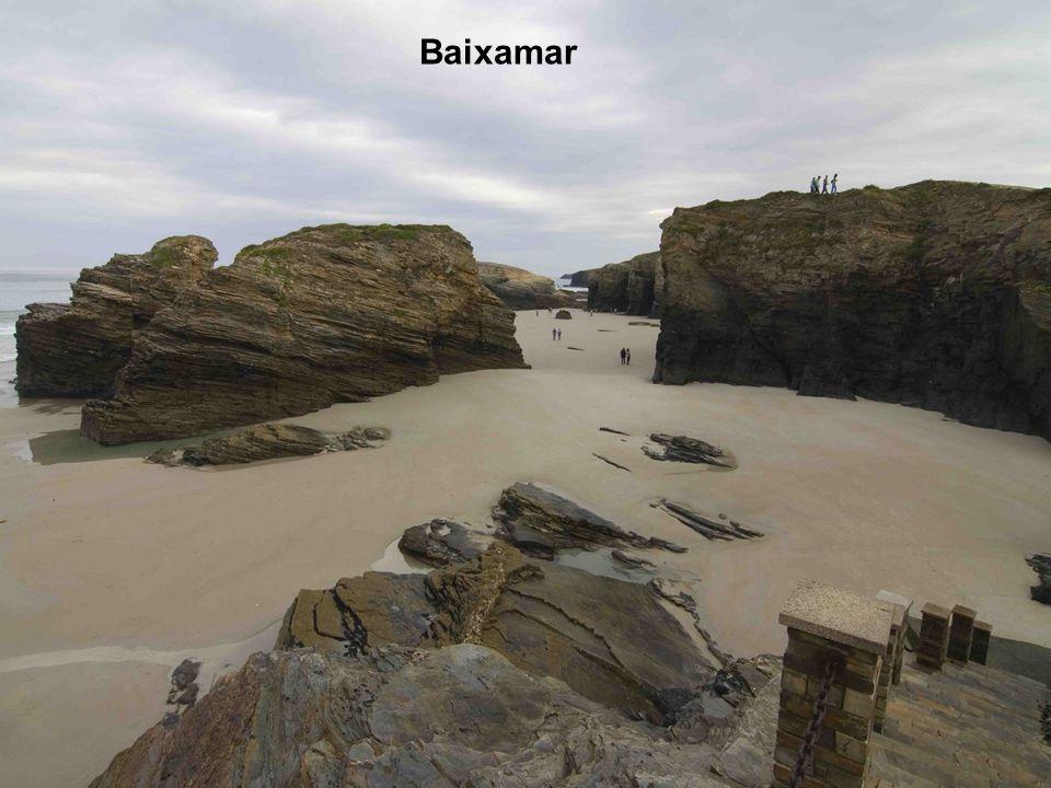 A característica da praia são os arcos e as grutas, só apreciáveis a pé pela praia durante a baixamar. Durante a preamar a praia é relativamente peque
