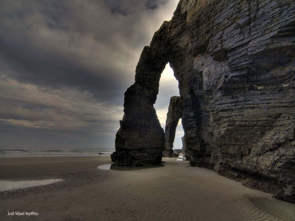 A Praia das Catedrais é o nome turístico da Praia de Águas Santas, situada no município de Ribadeo na costa da Província de Lugo (Galiza), sobre o mar