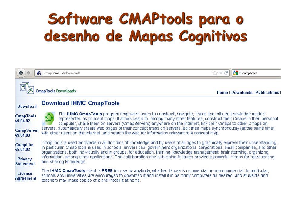 Site para baixar o cmaptools: http://cmap.ihmc.us/download/
