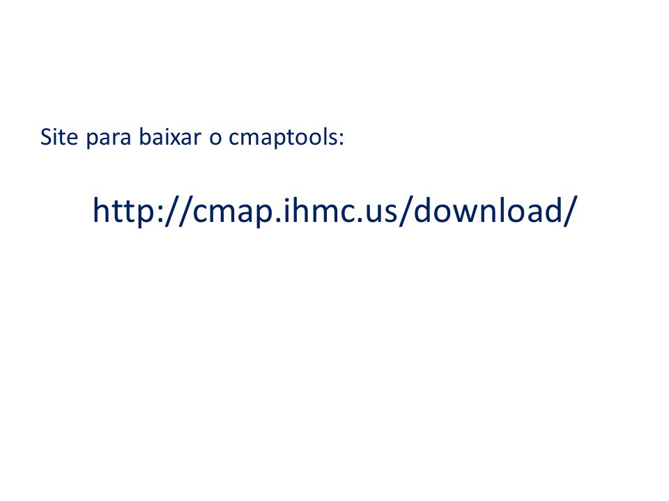 Software CMAPtools para o desenho de Mapas Cognitivos