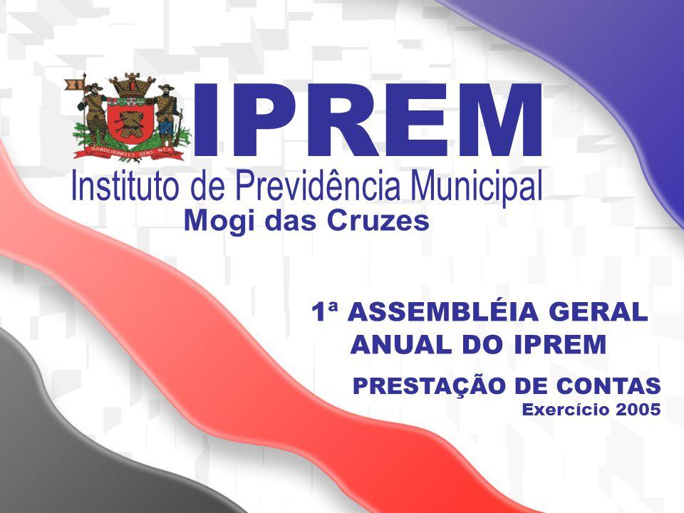 1ª ASSEMBLÉIA GERAL ANUAL DO IPREM PRESTAÇÃO DE CONTAS Exercício 2005