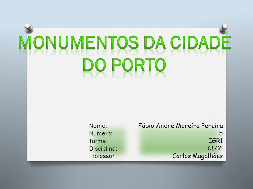 Fábio André Moreira Pereira 5 IGR1 CLC6 Carlos Magalhães Nome: Numero: Turma: Disciplina: Professor: