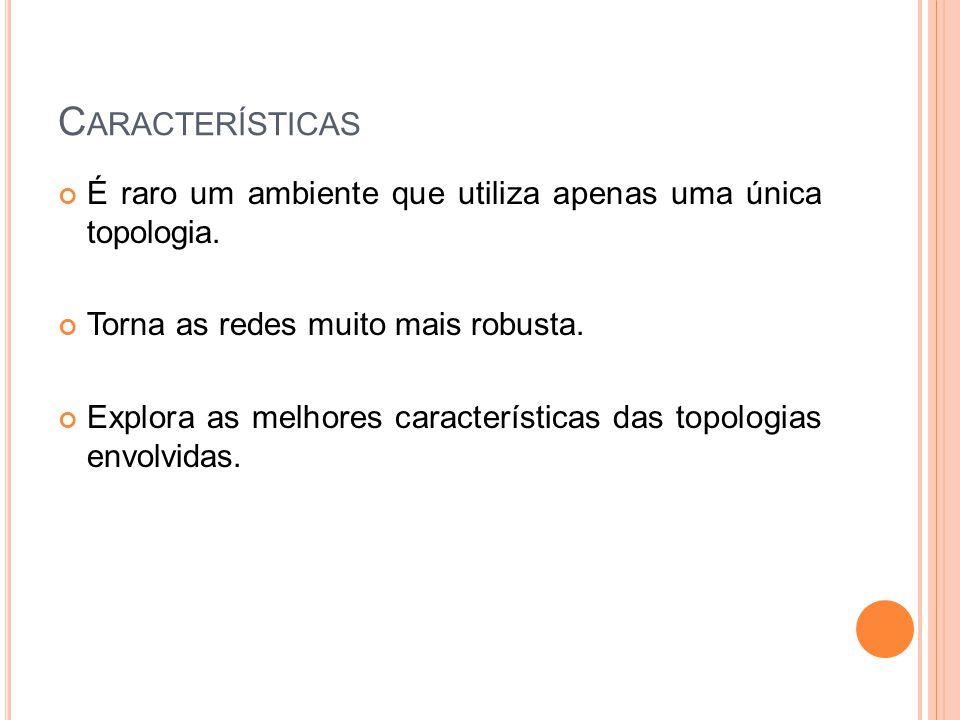 C ARACTERÍSTICAS É raro um ambiente que utiliza apenas uma única topologia.