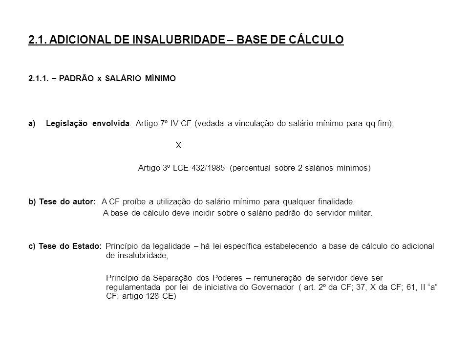 d) Jurisprudência: - VFP: Majoritária a favor do Estado Ex.
