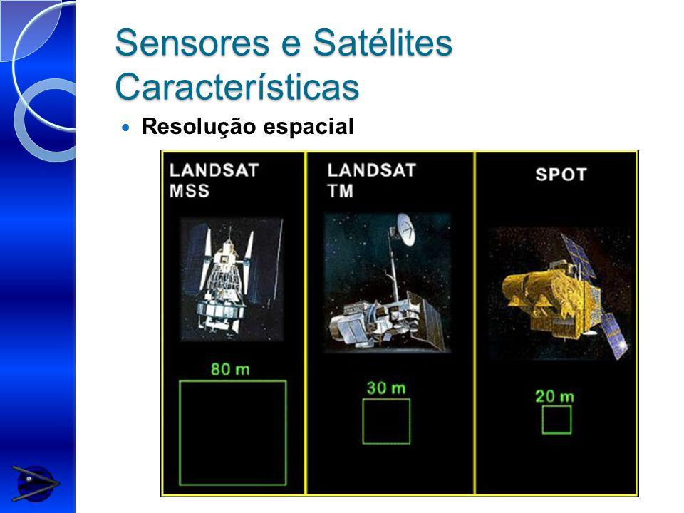 Sensores e Satélites Características Resolução espacial