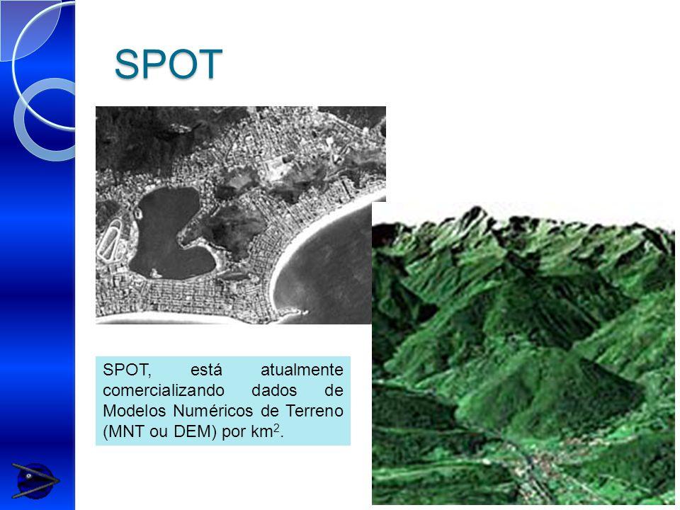 SPOT SPOT, está atualmente comercializando dados de Modelos Numéricos de Terreno (MNT ou DEM) por km 2.