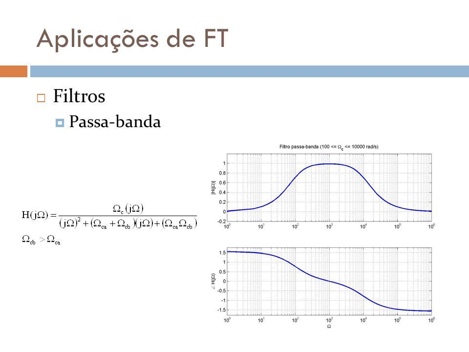 Aplicações de FT  Filtros  Passa-banda