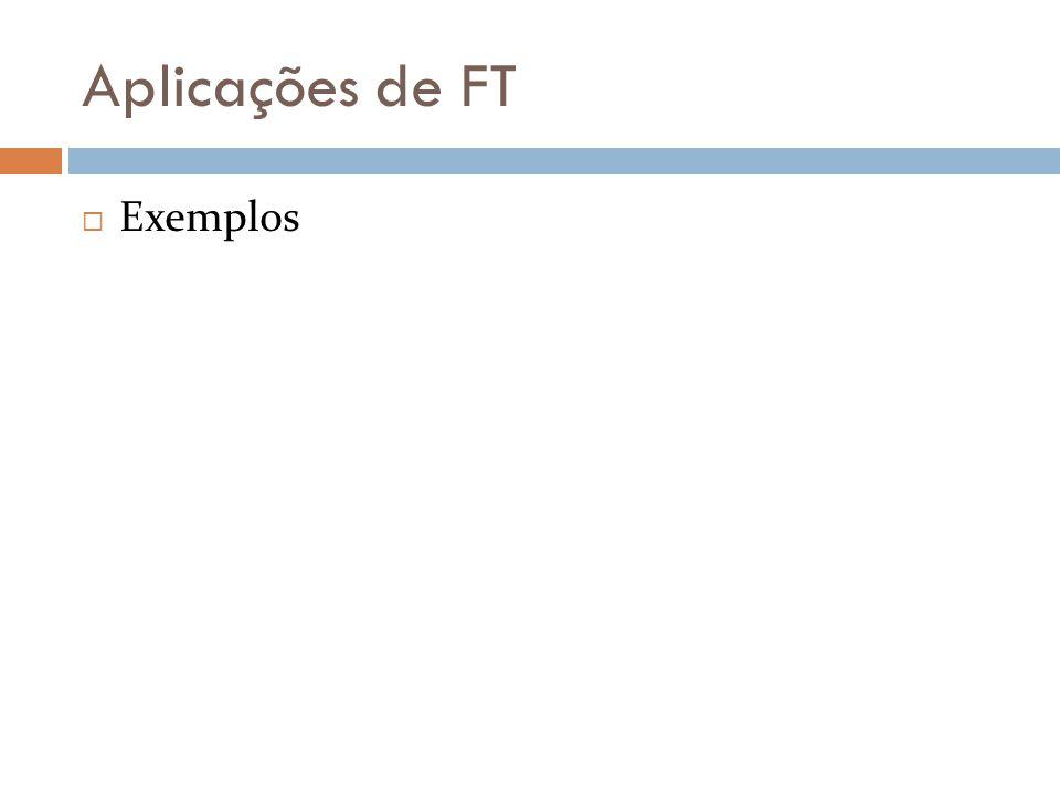 Aplicações de FT  Exemplos