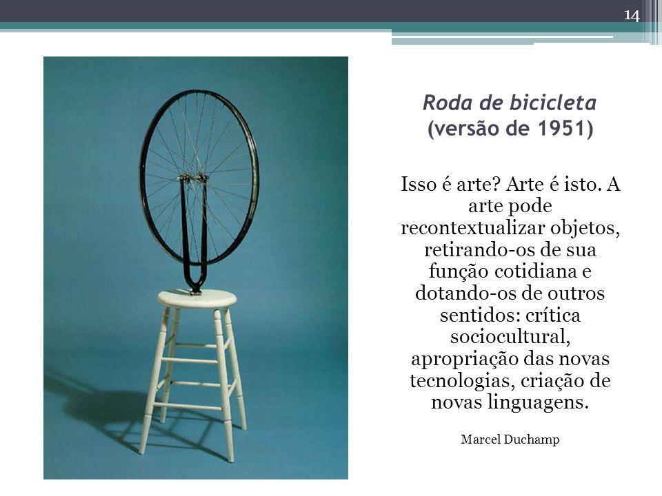 Roda de bicicleta (versão de 1951) Isso é arte.Arte é isto.