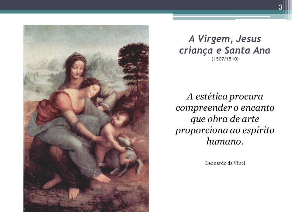 A Virgem, Jesus criança e Santa Ana (1507/1510) A estética procura compreender o encanto que obra de arte proporciona ao espírito humano.