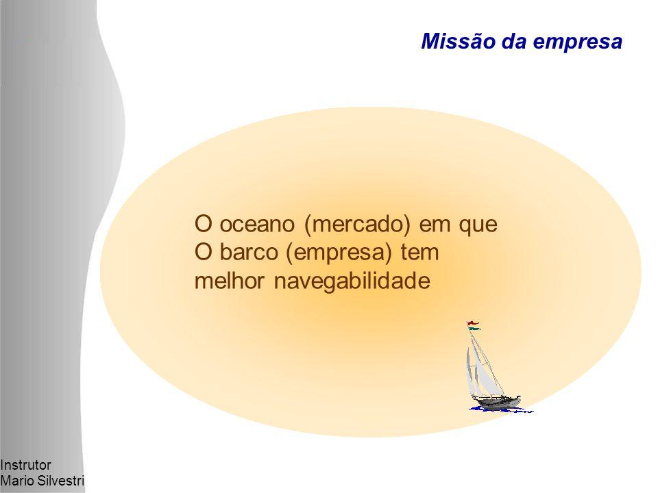 Instrutor Mario Silvestri O oceano (mercado) em que O barco (empresa) tem melhor navegabilidade Missão da empresa