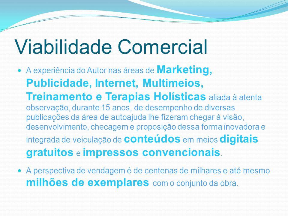 Viabilidade Comercial A experiência do Autor nas áreas de Marketing, Publicidade, Internet, Multimeios, Treinamento e Terapias Holísticas aliada à ate