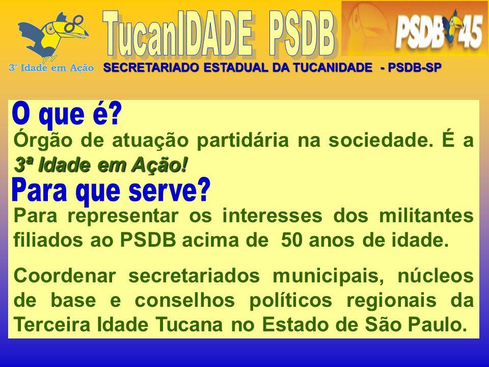 SECRETARIADO ESTADUAL DA TUCANIDADE - PSDB-SP 3ª Idade em Ação.