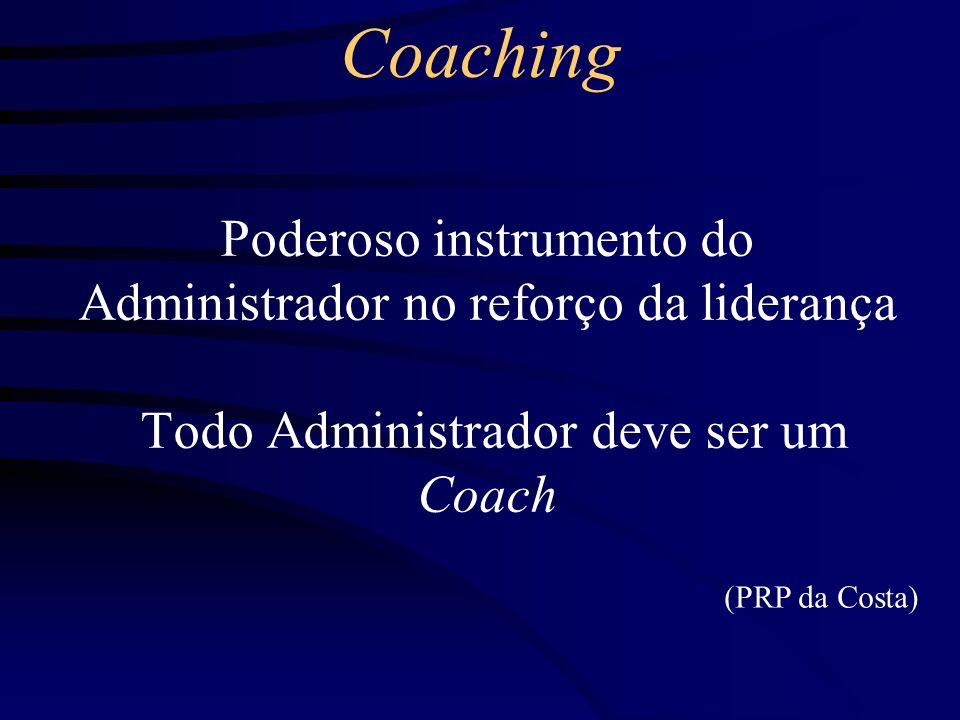 Coaching Breve Histórico (Minha Visão) Management Development (Desenvolvimento de Executivos)* *Organização Philips Brasileira –Potential Appraisal (Avaliação de Potencial) –Performance Appraisal (Avaliação de Desempenho) –Career Planning (Plano de Carreira) –Inventário de Aspirações –Identificação de Talentos –Planos de Sucessão NÃO SE FALAVA AINDA EM COACHING, MAS JÁ SE FAZIA Início da década de 70 – Profissional de RH