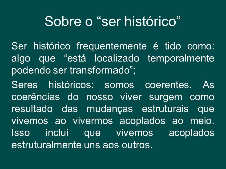 """Sobre o """"ser histórico"""" Ser histórico frequentemente é tido como: algo que """"está localizado temporalmente podendo ser transformado""""; Seres históricos:"""