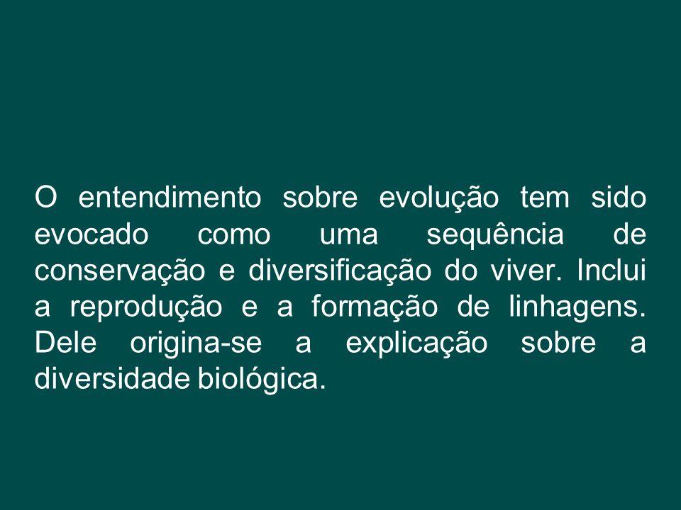 O entendimento sobre evolução tem sido evocado como uma sequência de conservação e diversificação do viver. Inclui a reprodução e a formação de linhag